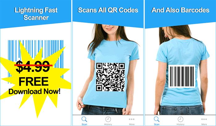 MixerBox Barcode and QR Code Scanner iPhone App Screenshot