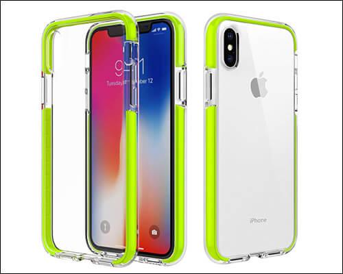 MoKo Clear Bumper Case for iPhone Xs