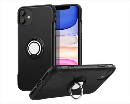 MoKo Ring Holder Case for iPhone 11