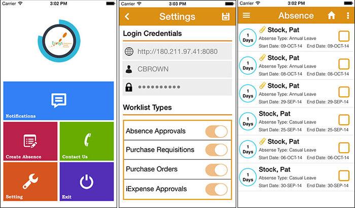 Mobile ERP iPhone App Screenshot