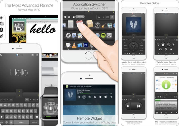 Mobile Mouse Remote iPhone App Screenshot