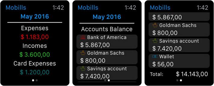 Mobills Budget Planner Apple Watch App Screenshot