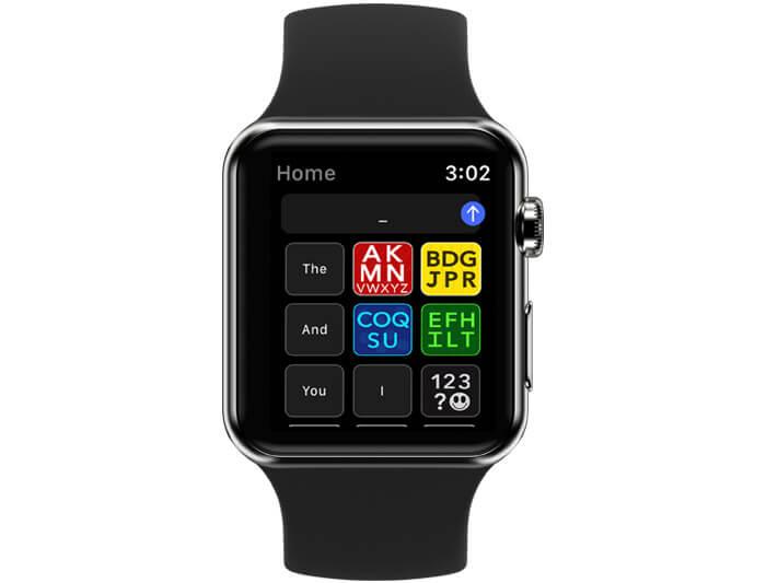 Modality Keyboard App Home Screen on Apple Watch