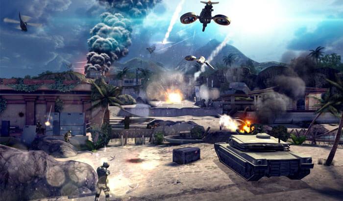 Modern Combat 4 iPhone and iPad Game Screenshot