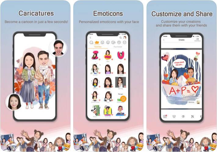 MomentCam iPhone Cartoon Yourself App Screenshot