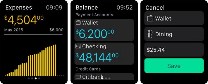 Money Pro Personal Finance Apple Watch App Screenshot