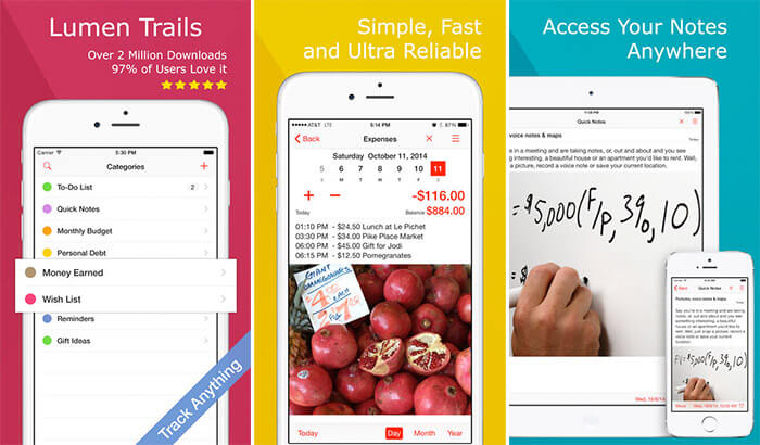 Money Tracker iPhone and iPad App Screenshot