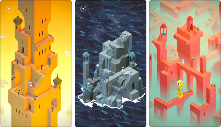 Monument Valley iPhone and iPad One-Handed Game Screenshot