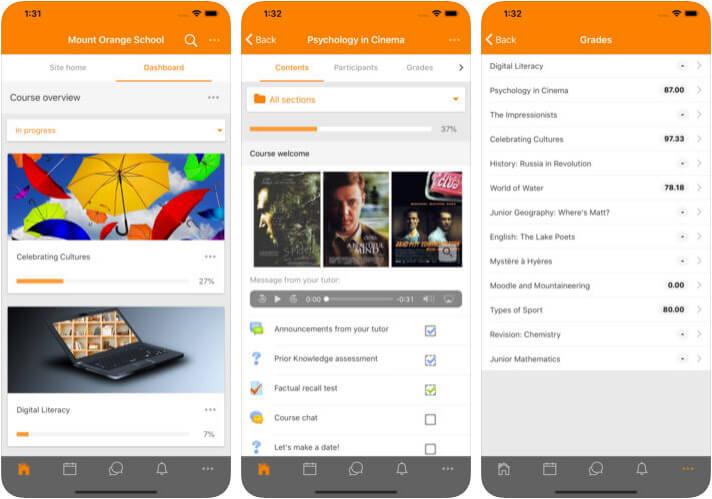 Moodle iPhone and iPad App Screenshot