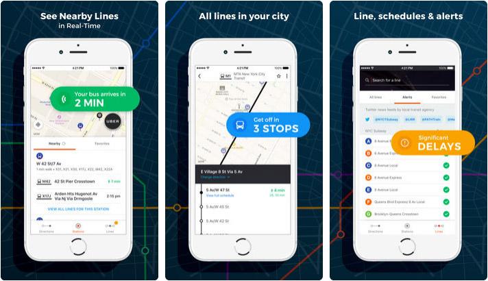 Moovit Public Transit Tracker iPhone, iPad, and Apple Watch App Screenshot