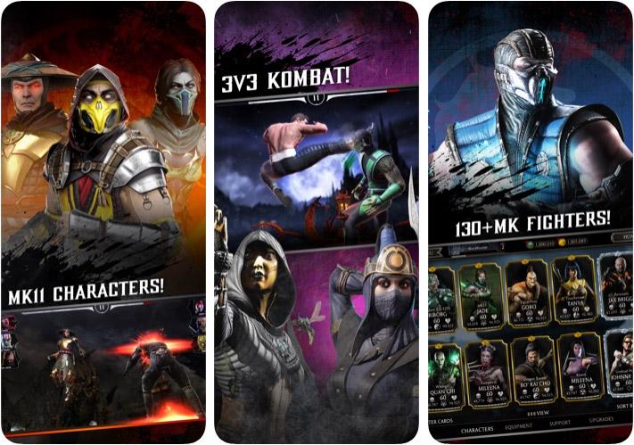 Screenshot der Mortal Kombat iPhone- und iPad-Kampfspiel-App