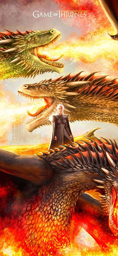 Mother of Dragons iPhone Game of Thrones Wallpaper