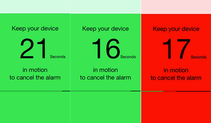 Motion Alarm Clock iPhone and iPad App Screenshot