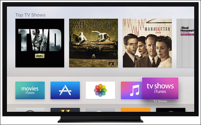 Move Apple TV Apps