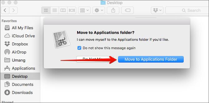 Move CheatSheet App to Mac Applications Folder