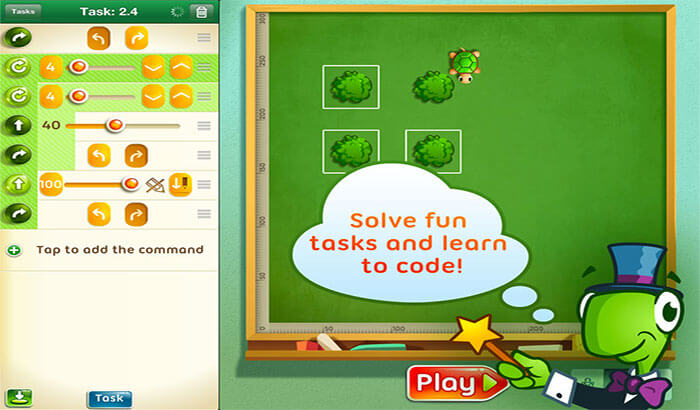 Move The Turtle Programming For Kids iPhone and iPad App Screenshot
