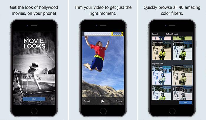 Movie Looks Movie Maker iPhone App Screenshot