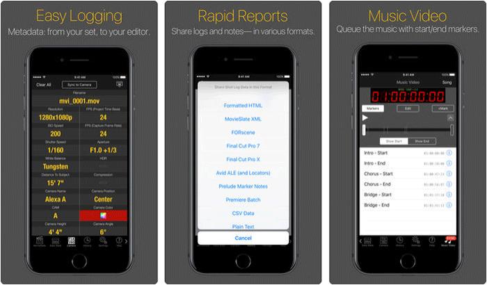 MovieSlate 8 iPhone and iPad App Screenshot