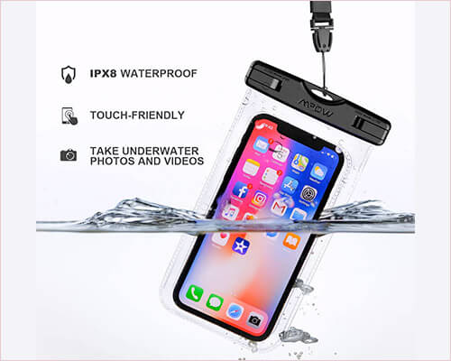 Mpow Waterproof Pouch for iPhone Xs