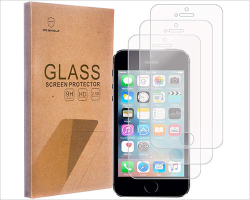 Mr. Shield Tempered Glass Screen Protector for iPhone SE, 5s and iPhone 5