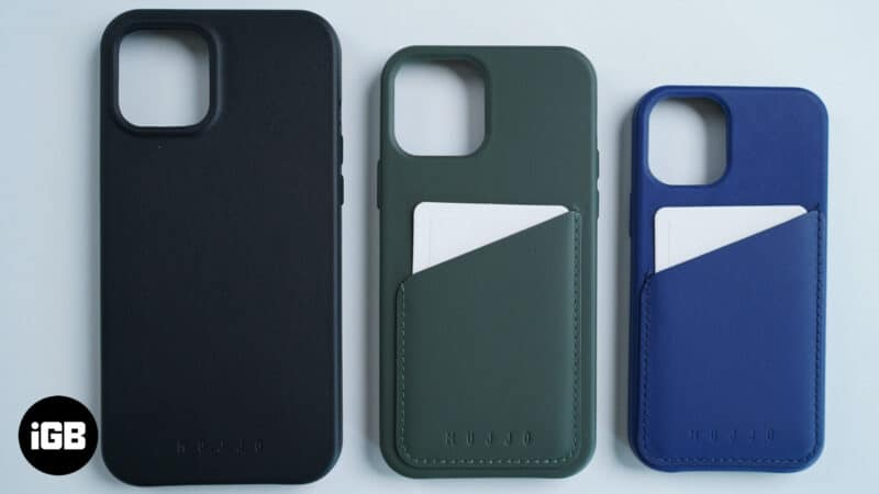 Mujjo Full Leather and Wallet Cases for iPhone 12 Series