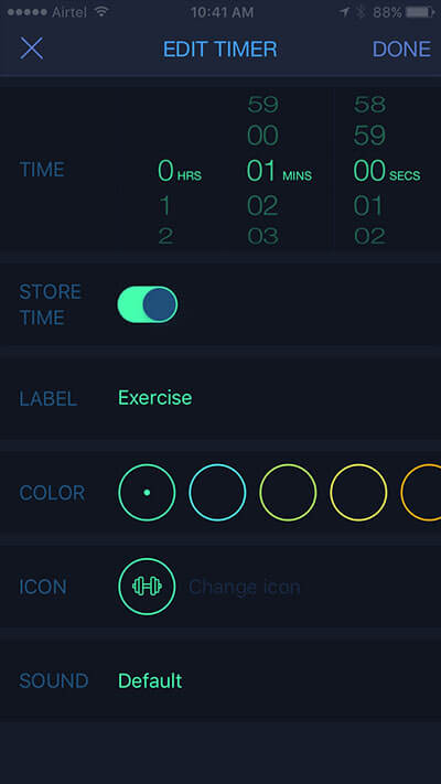 MultiTimer iPhone App Functionality