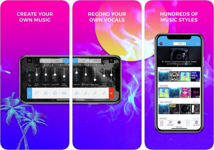 Music Maker JAM iOS Hip Hop App Screenshot