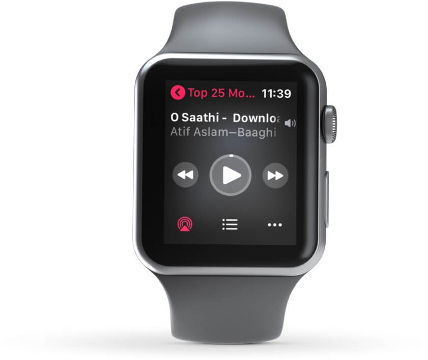 Music Playback Control on Apple Watch