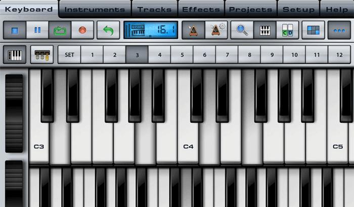Music Studio iPhone and iPad App Screenshot
