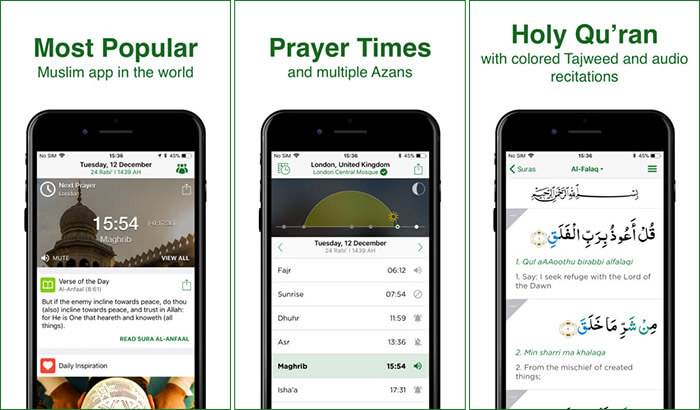 Muslim Pro Qibla iPhone and iPad App Screenshot