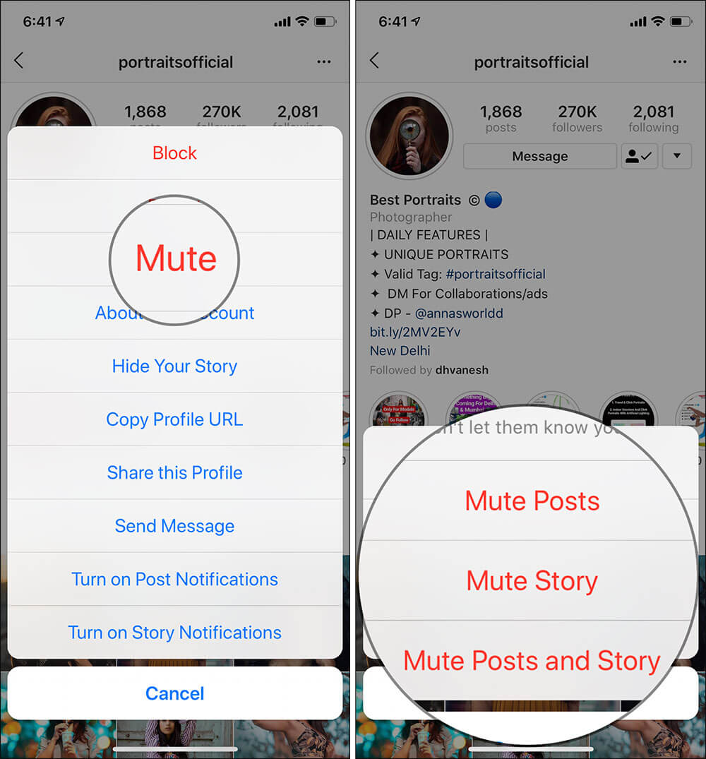 Mute Instagram Story on iPhone Without Unfollowing