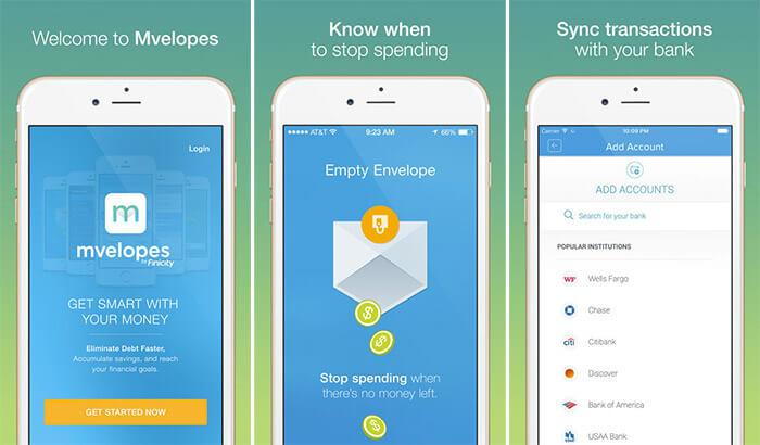 Mvelopes Personal Finance iPhone and iPad App Screenshot