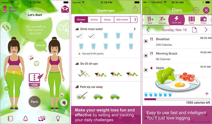 My Diet Coach Weight Tracking iPhone and iPad App Screenshot