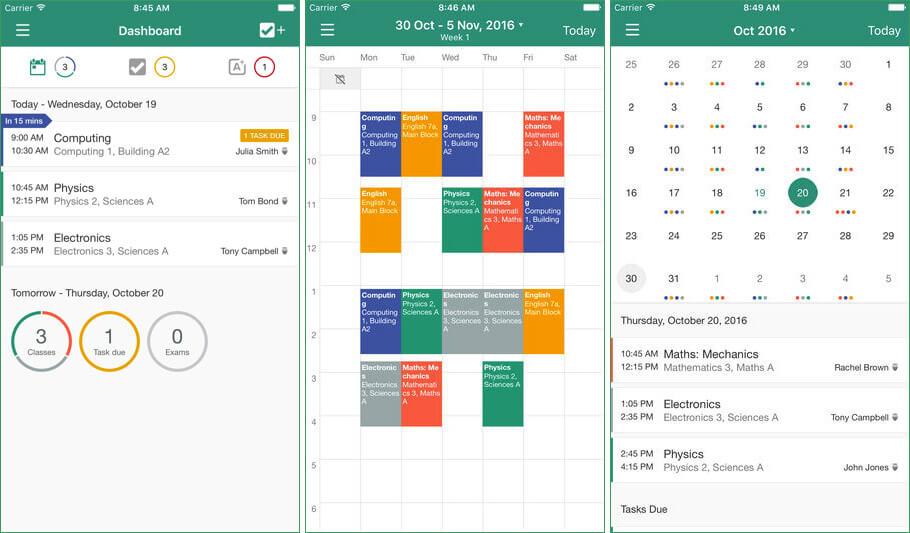 My Study Life iPhone and iPad Teachers App Screenshot