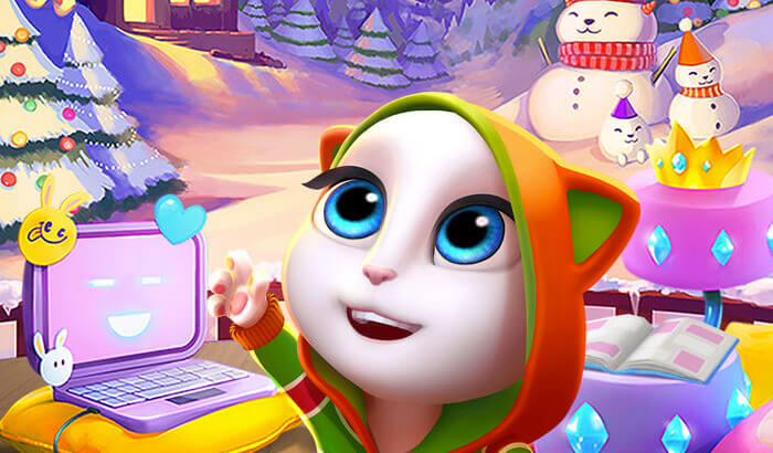My Talking Angela Kill Stress iPhone and iPad Game Screenshot