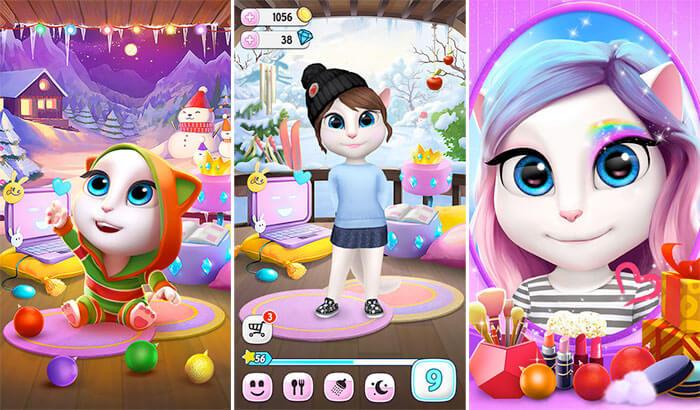 My Talking Angela iPhone and iPad App Screenshot