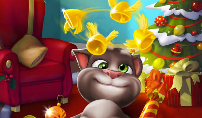 My Talking Tom Kill Stress iPhone and iPad Game Screenshot