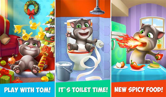 My Talking Tom iPhone and iPad App Screenshot