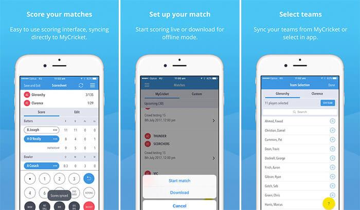 MyCricket Live Score iPhone App Screenshot
