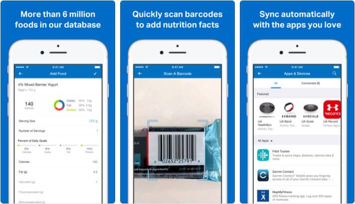 MyFitnessPal iPhone and iPad App Screenshot
