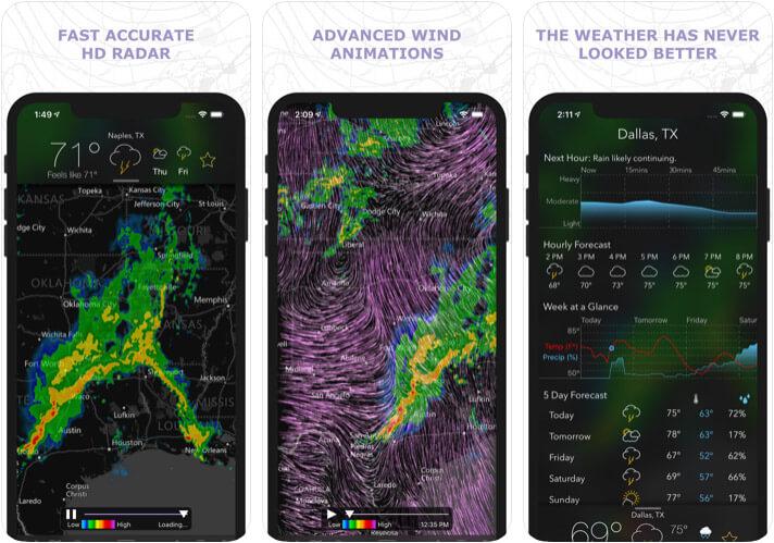 MyRadar Weather Radar iPhone and iPad App Screenshot
