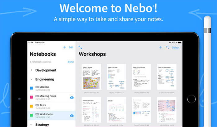 MyScript Nebo iPad Note Taking App Screenshot