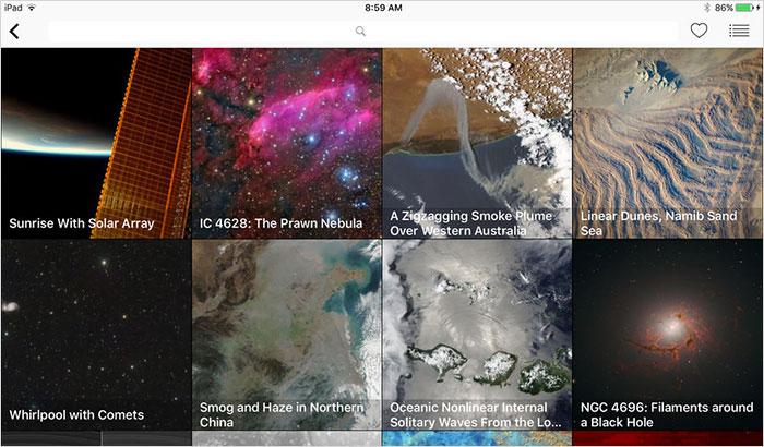 NASA iPhone and iPad App Screenshot