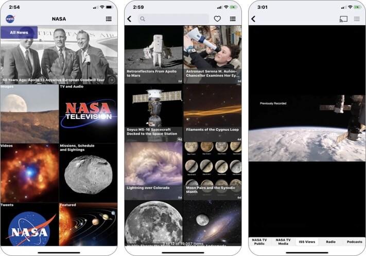 NASA stargazing iPhone and iPad App Screenshot