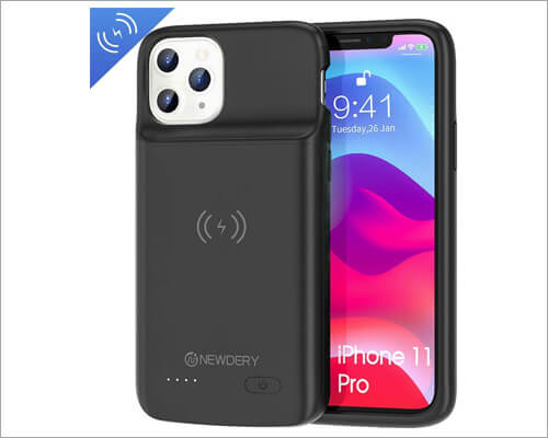 NEWDERY Qi Compatible Battery Case for iPhone 11 Pro