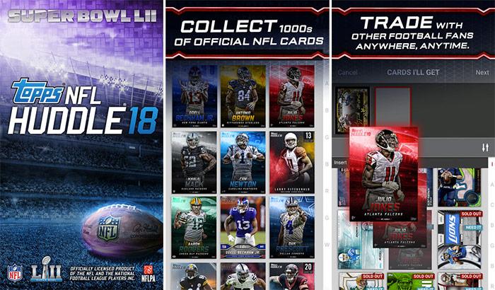 NFL HUDDLE iPhone and iPad App Screenshot