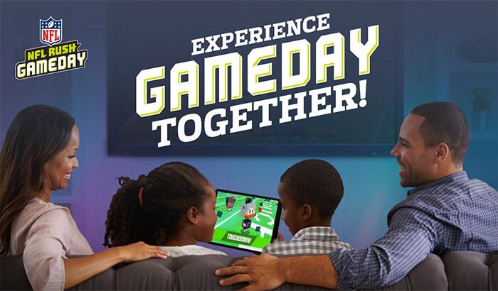 NFL Rush Gameday iPhone and iPad App Screenshot