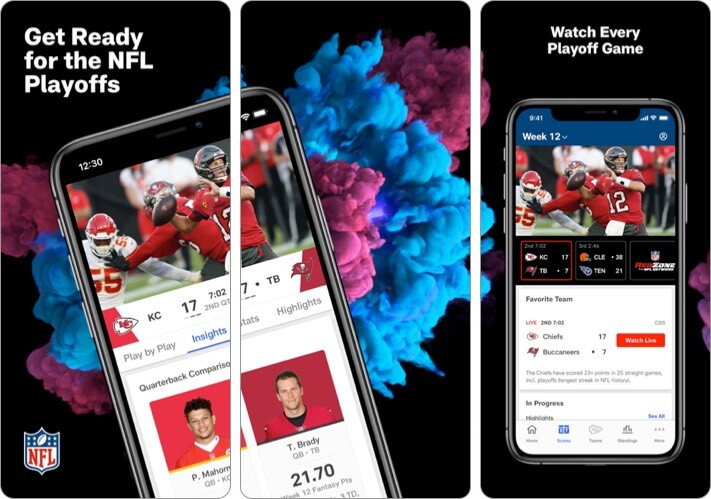 NFL iPhone and iPad App Screenshot