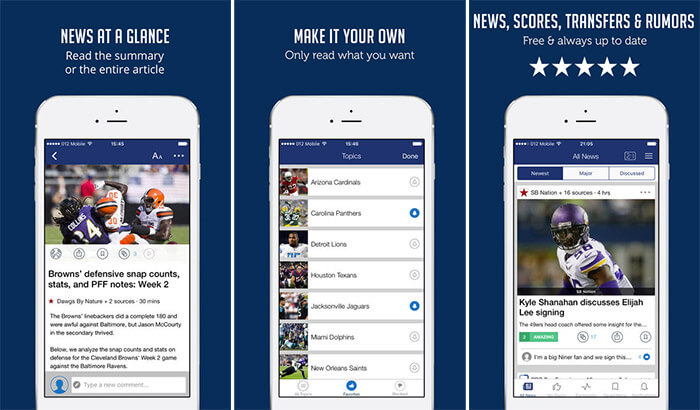 NFLNation iPhone and iPad App Screenshot