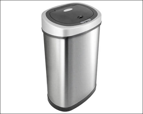 NINESTARS DZT-50-9 Automatic Motion Sensor Oval Trash Can